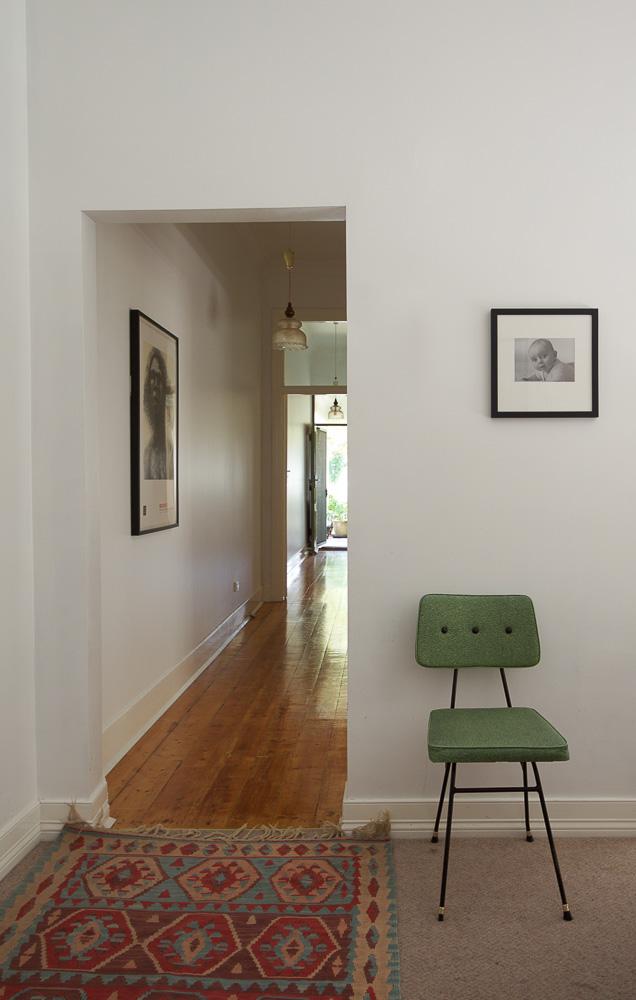 E&T - 10 Hallway & Green Chair-1430