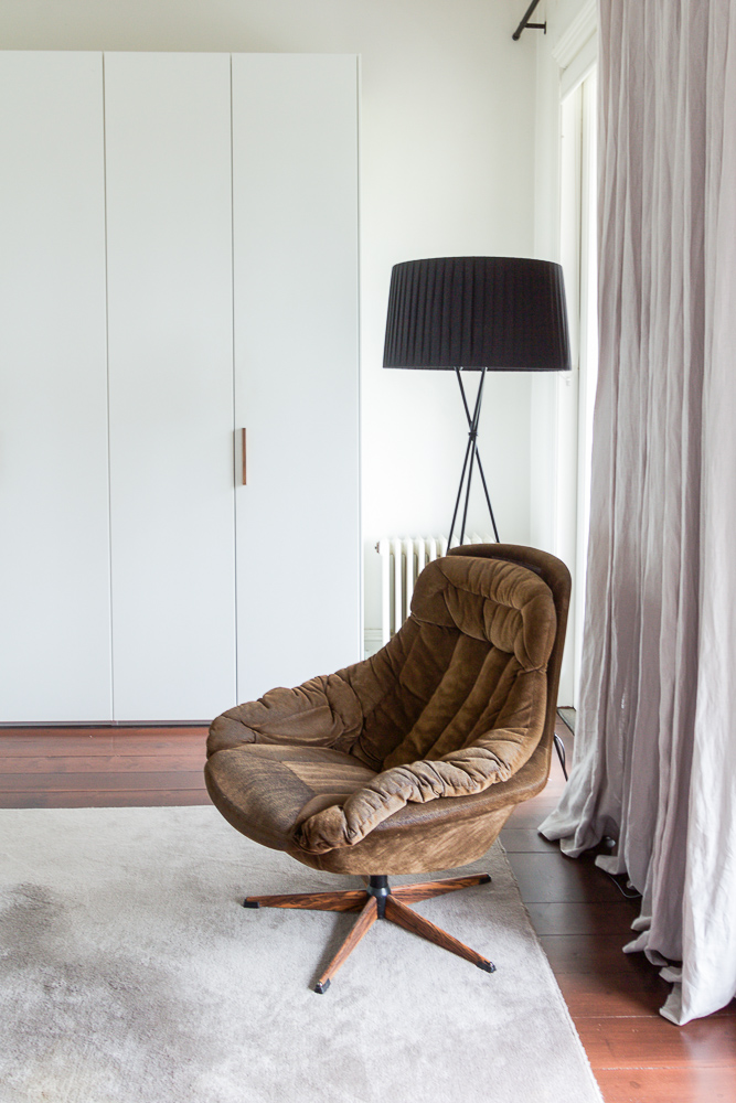 East Melb - Master Bedroom Brown Chair-3199